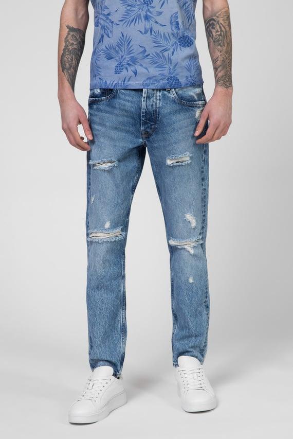 Мужские голубые джинсы CALLEN CROP