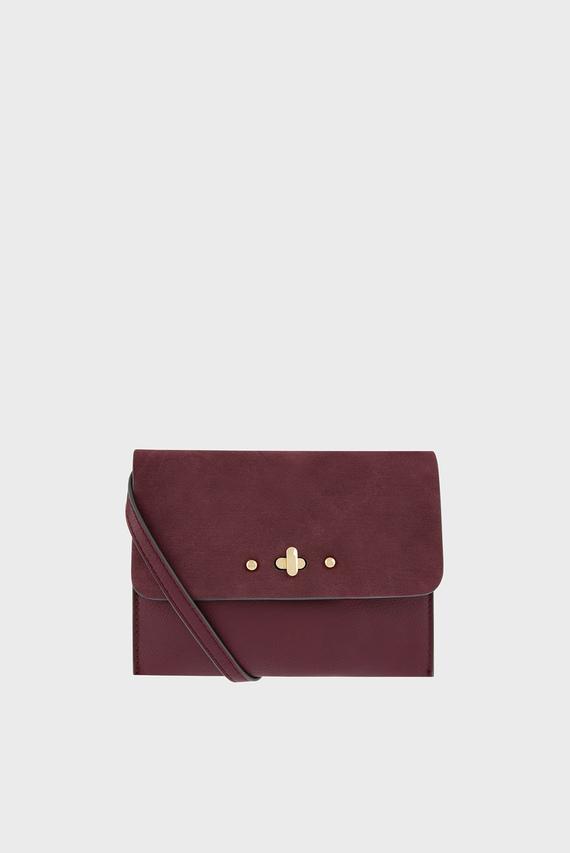 Женская бордовая сумка серез плечо SARAH