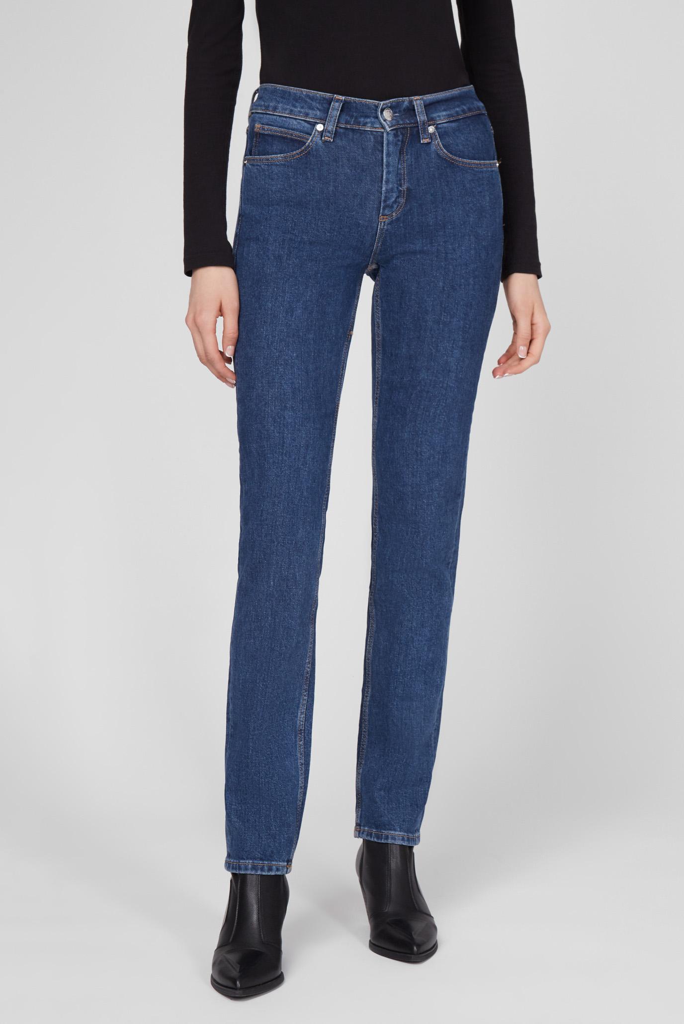 Женские синие джинсы SLIM JEAN - MID BLUE 1