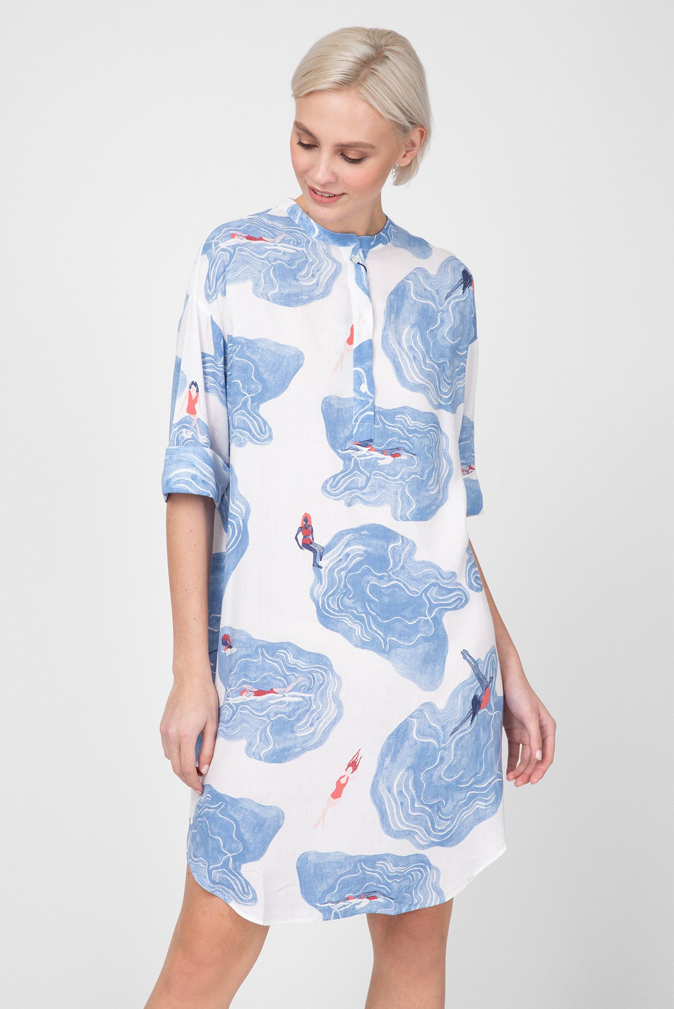 d09aab6c85f2 Купить Женское белое платье с принтом Gant Gant 4320089 – Киев ...
