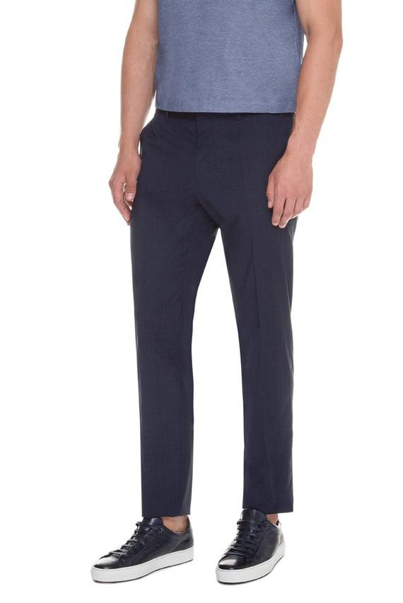 Мужские синие шерстяные брюки