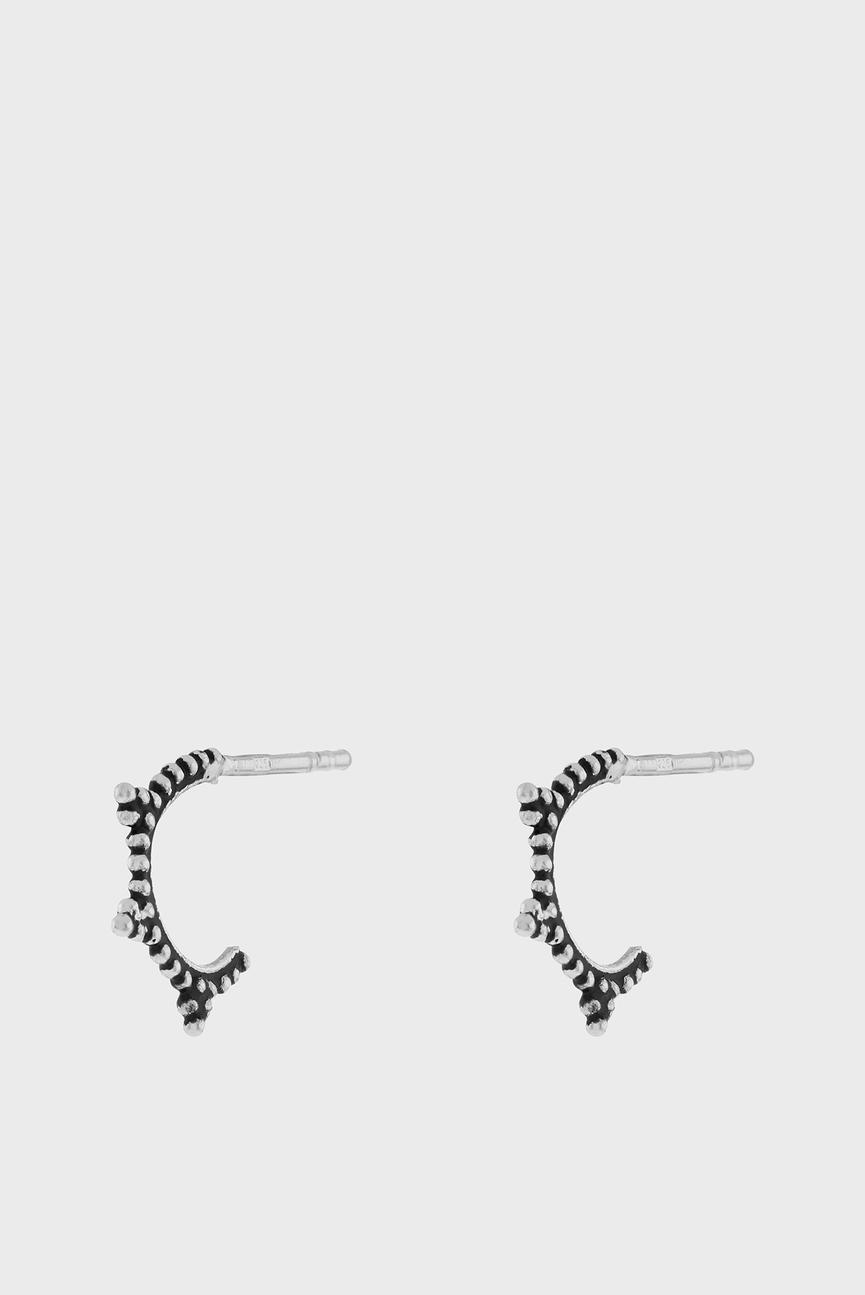 Женские серебристые сережки
