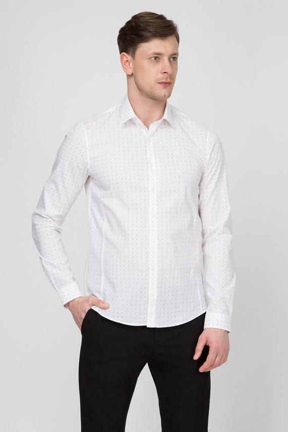 Мужская белая рубашка PRINTED STRETCH EXTRA SLIM