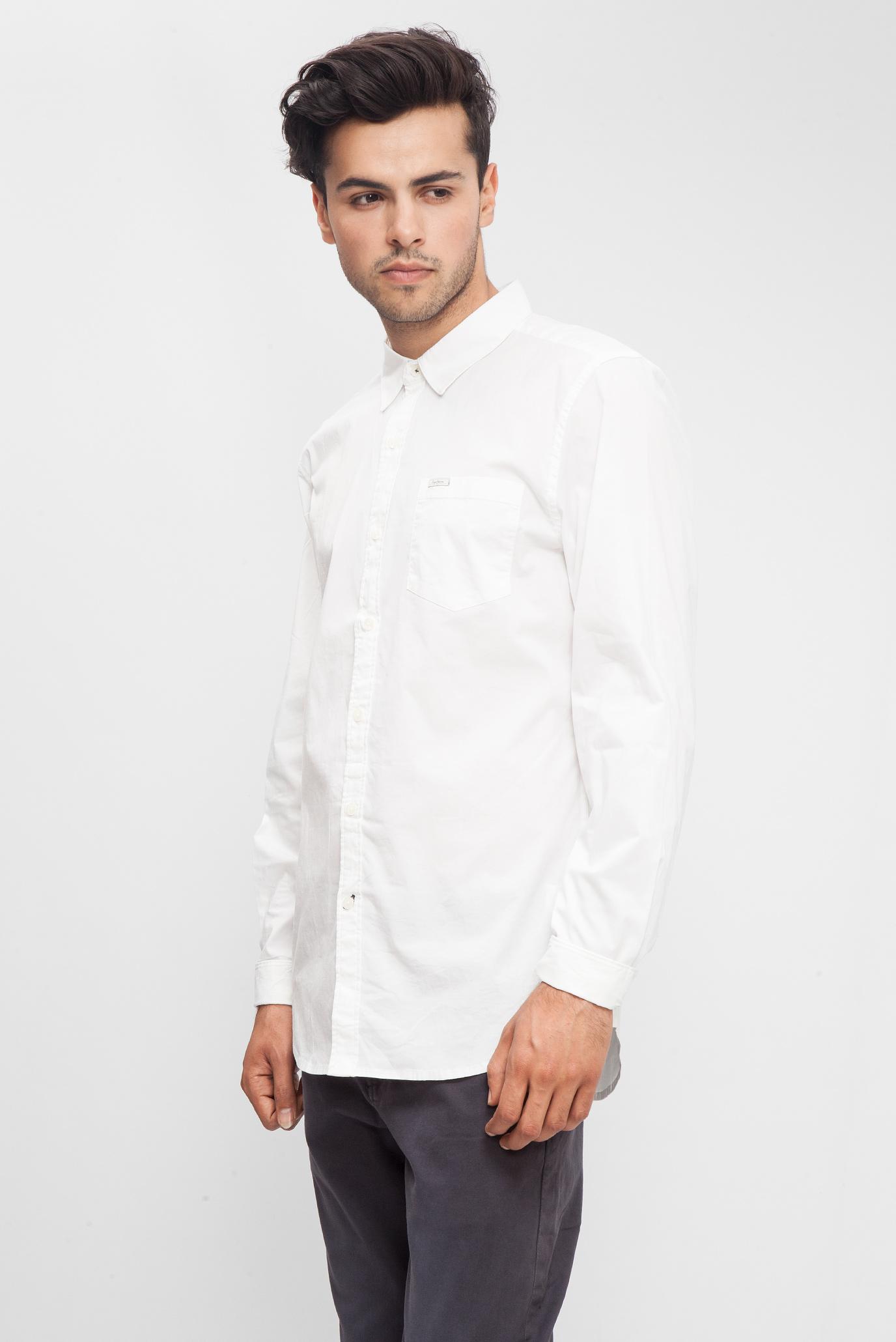 db0120e3915 Купить Мужская белая хлопковая рубашка Pepe Jeans Pepe Jeans PM302976 –  Киев