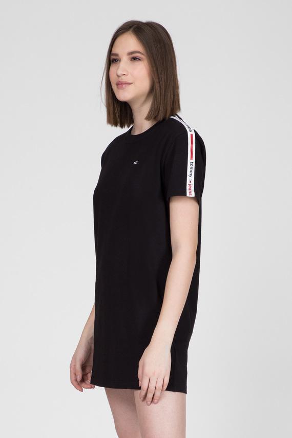 Женское черное платье TJW TAPE DETAIL SHORTSLV