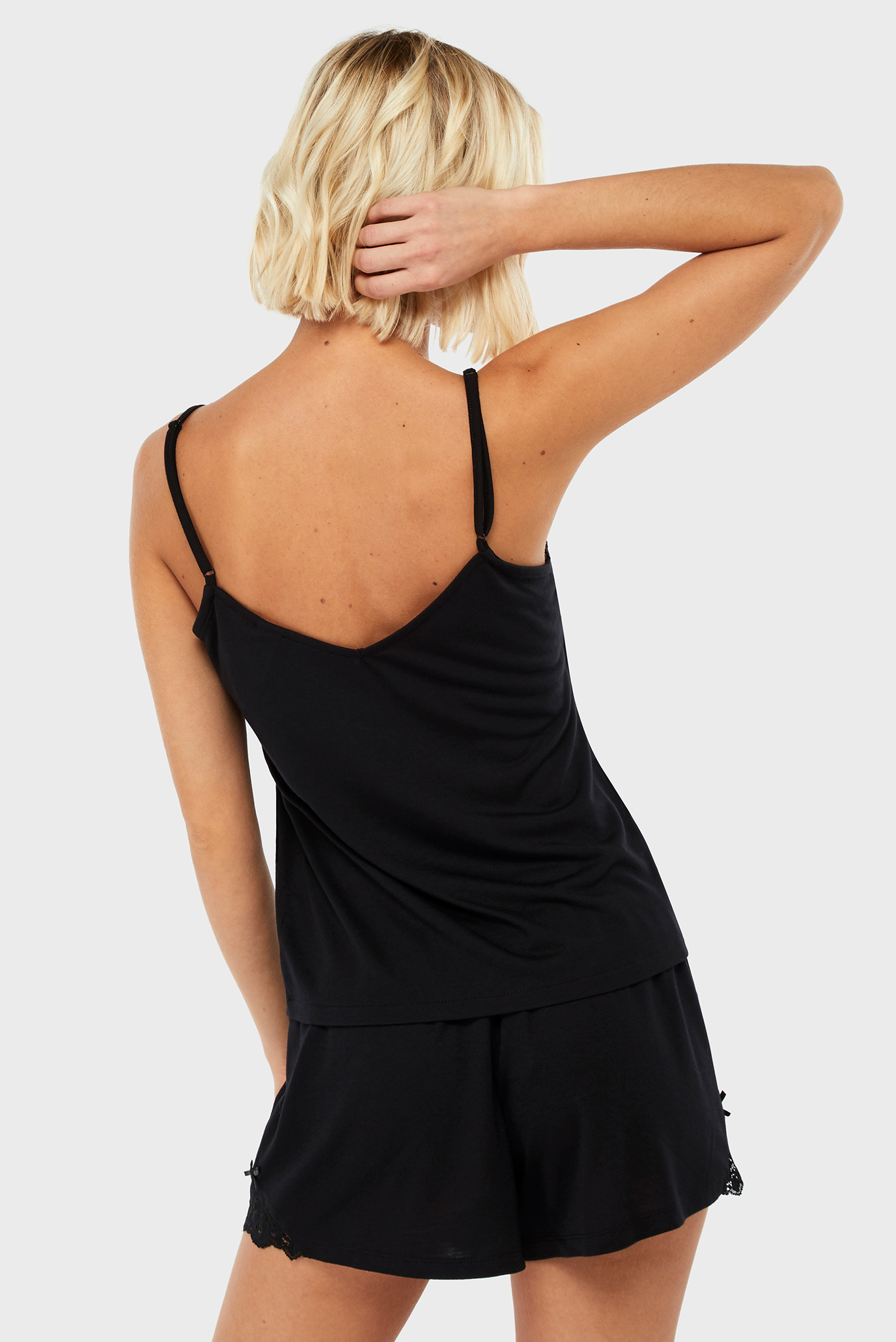 Женская черная пижама (шорты, майка) Teya Plain Vest Accessorize