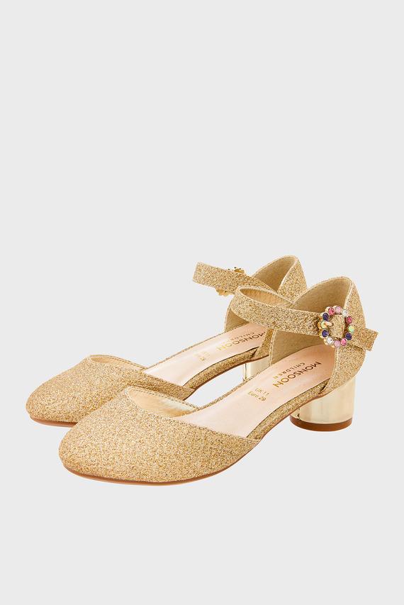 Детские золотистые туфли Zoey Diamante Heel