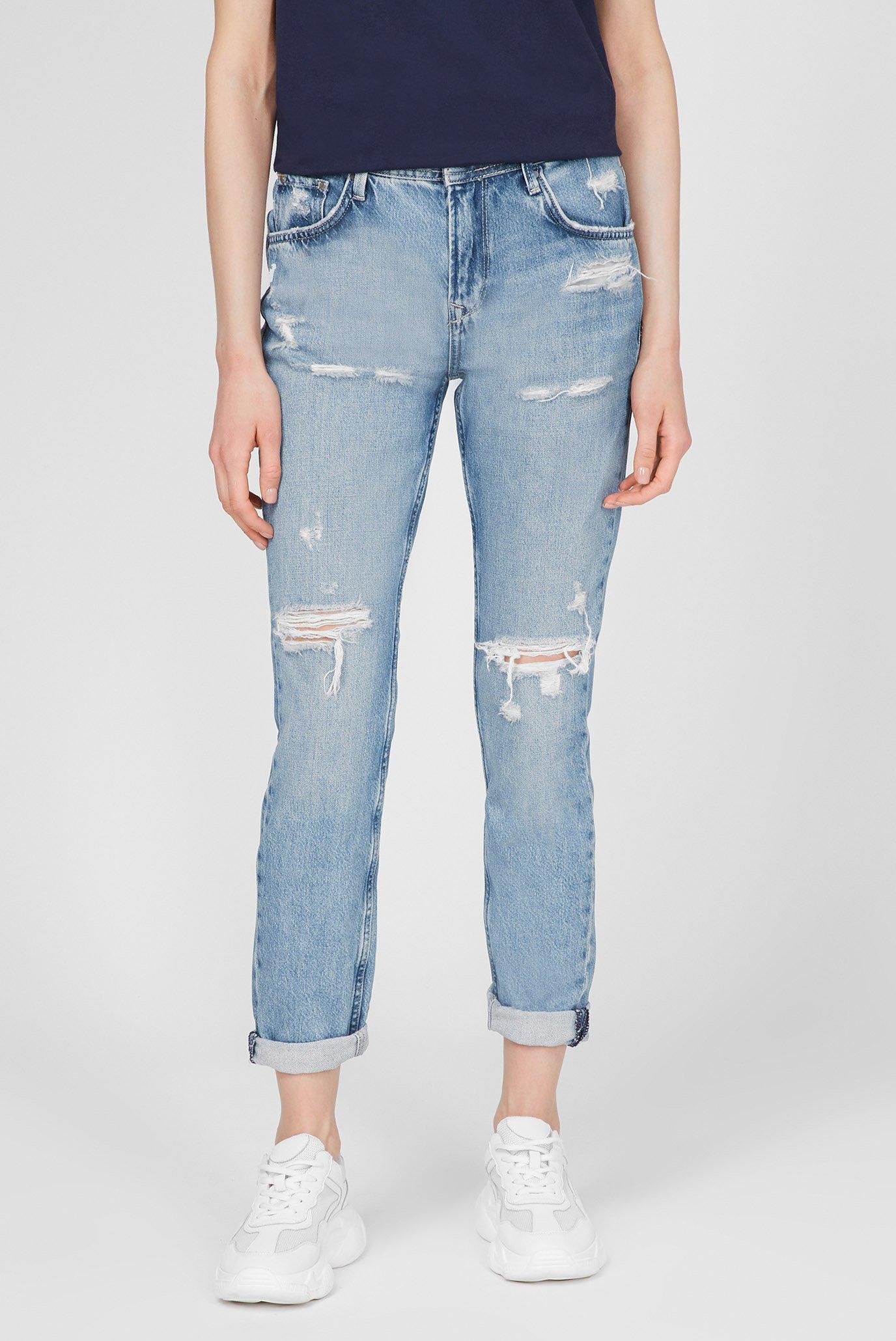 Женские голубые джинсы VIOLET 1
