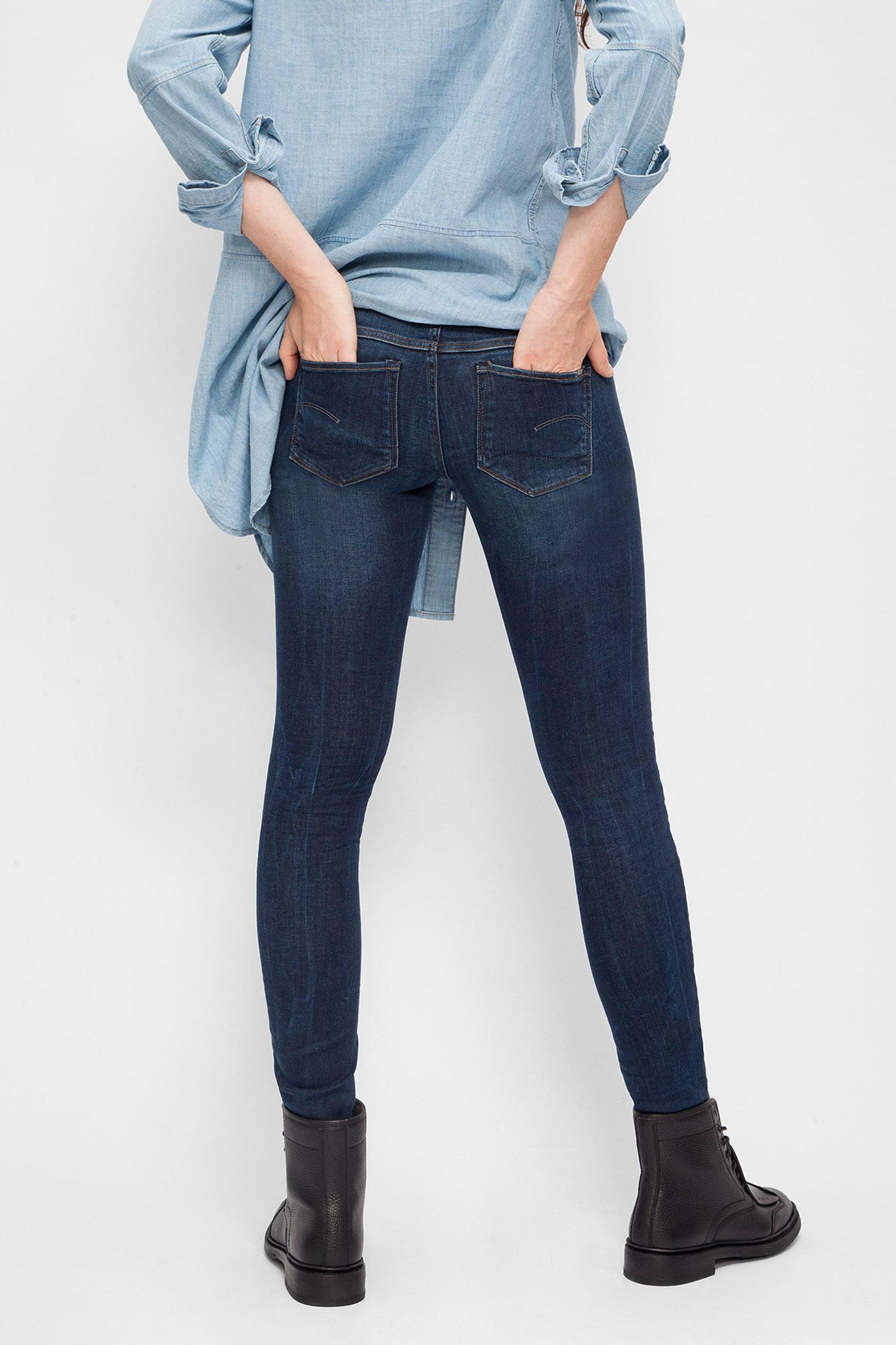 Купить Женские синие джинсы Low Skinny G-Star RAW G-Star RAW 60878,6553 – Киев, Украина. Цены в интернет магазине MD Fashion