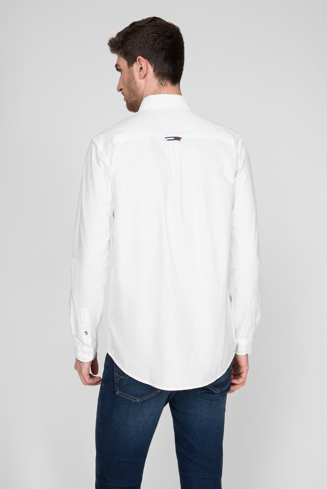 Мужская белая рубашка TJM OXFORD BADGE Tommy Hilfiger