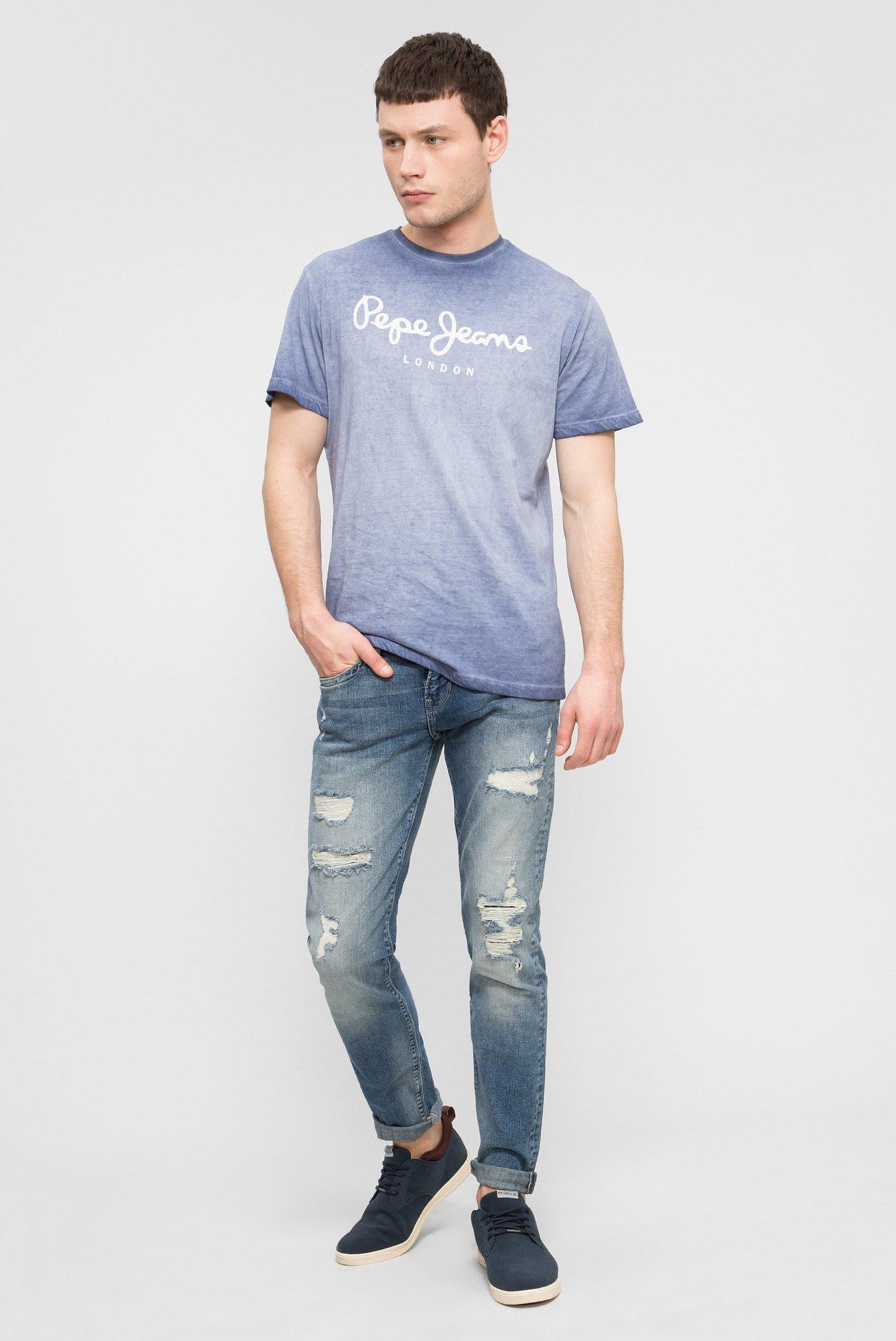 Купить Мужские синие джинсы HATCH Pepe Jeans Pepe Jeans PM200823RB12 – Киев, Украина. Цены в интернет магазине MD Fashion