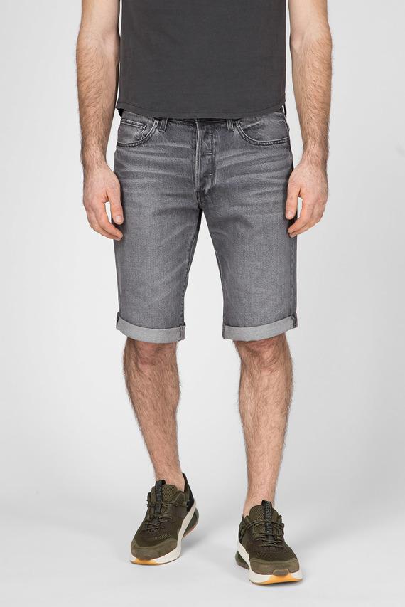 Мужские серые джинсовые шорты  3301