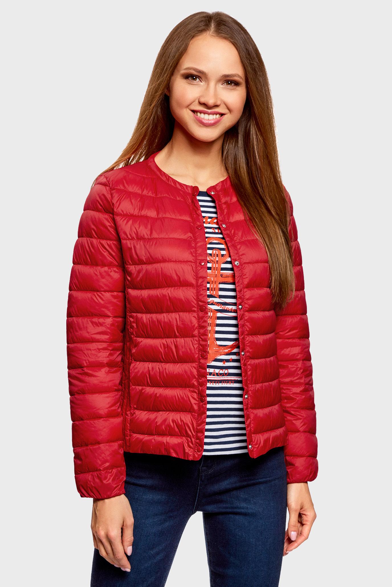 b4ca0bf4e7a Купить Женская красная стеганая куртка exclusive Oodji Oodji  10204040B 45638 4500N – Киев