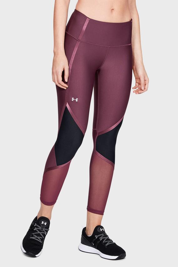 Женские фиолетовые тайтсы UA HG Armour Shine Ankle Crop