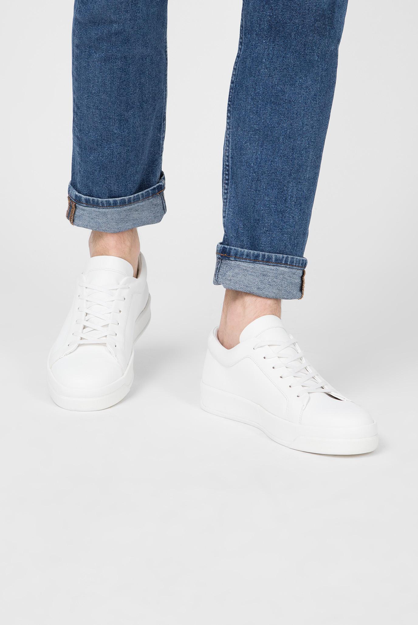 Купить Мужские белые кеды FAUSTO Calvin Klein Calvin Klein F1280 – Киев, Украина. Цены в интернет магазине MD Fashion