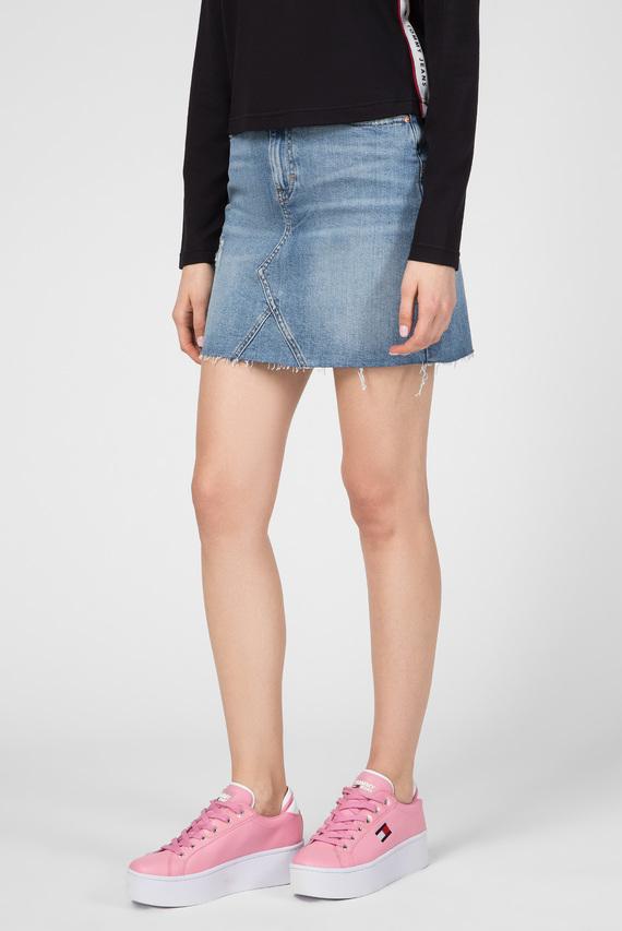 Женская голубая джинсовая юбка SHORT