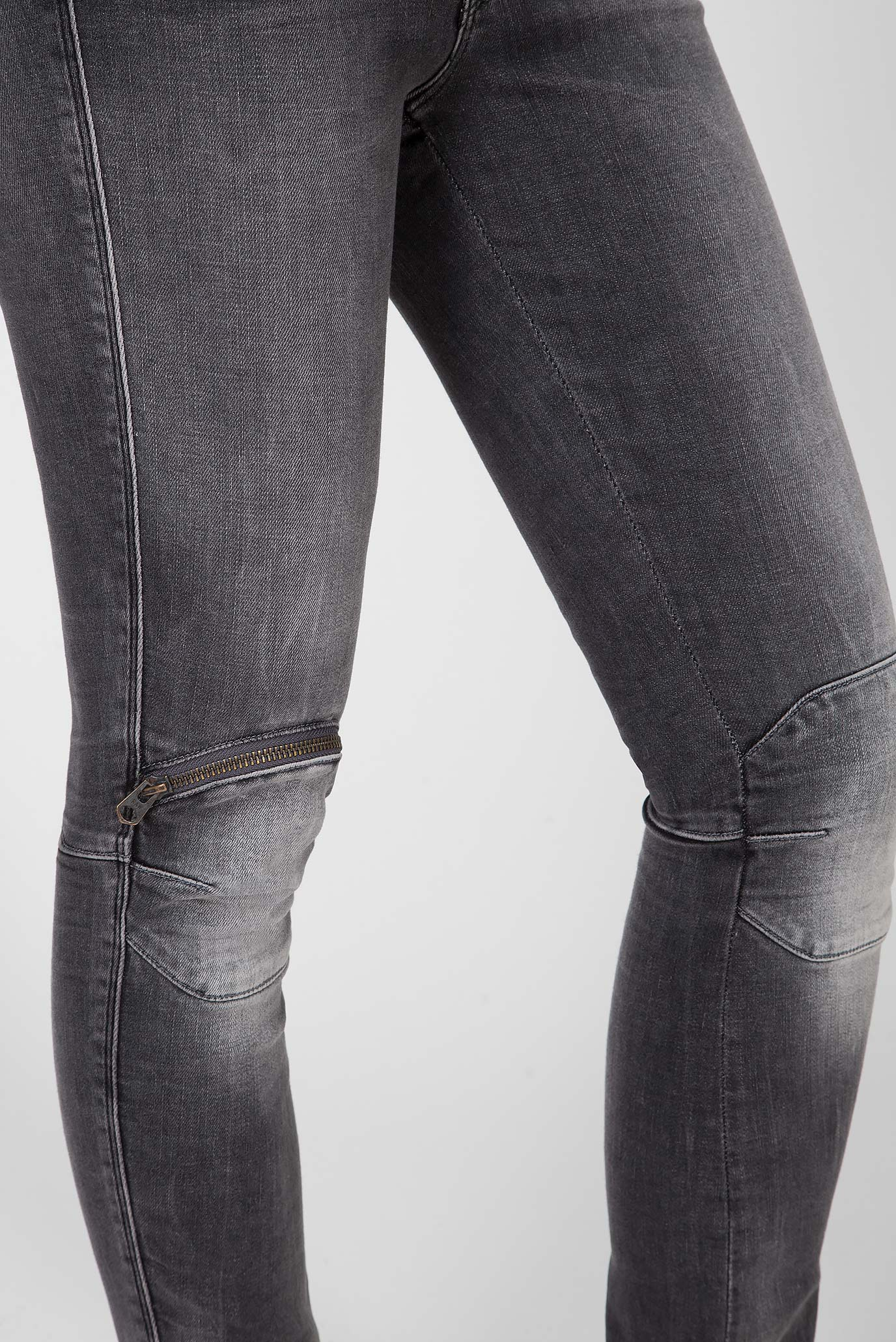 Женские серые джинсы 5622 Knee Zip High Skinny Wmn G-Star RAW