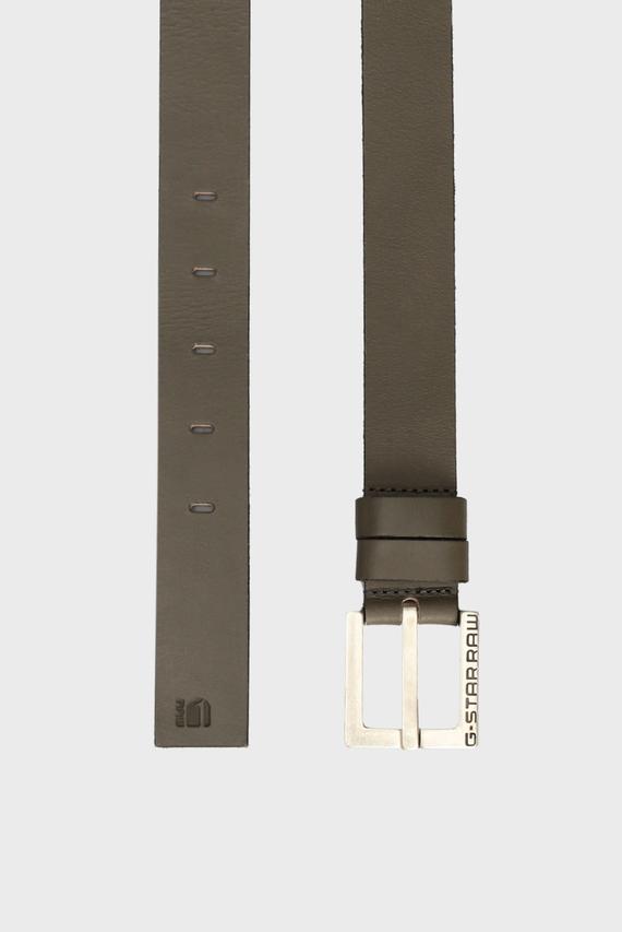 Мужской коричневый кожаный ремень Duko Belt