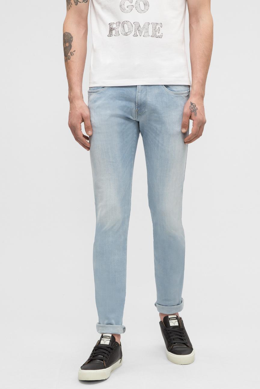Мужские голубые джинсы ANBASS