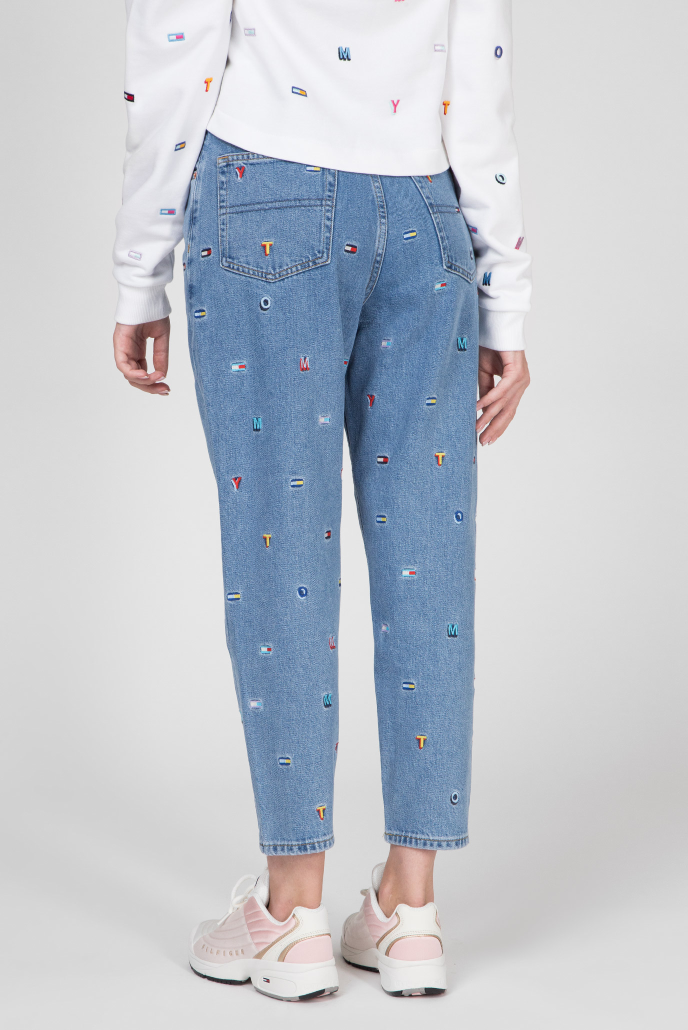 Женские голубые джинсы HIGH RISE TAPERED TJ 2004  GRTLB Tommy Hilfiger