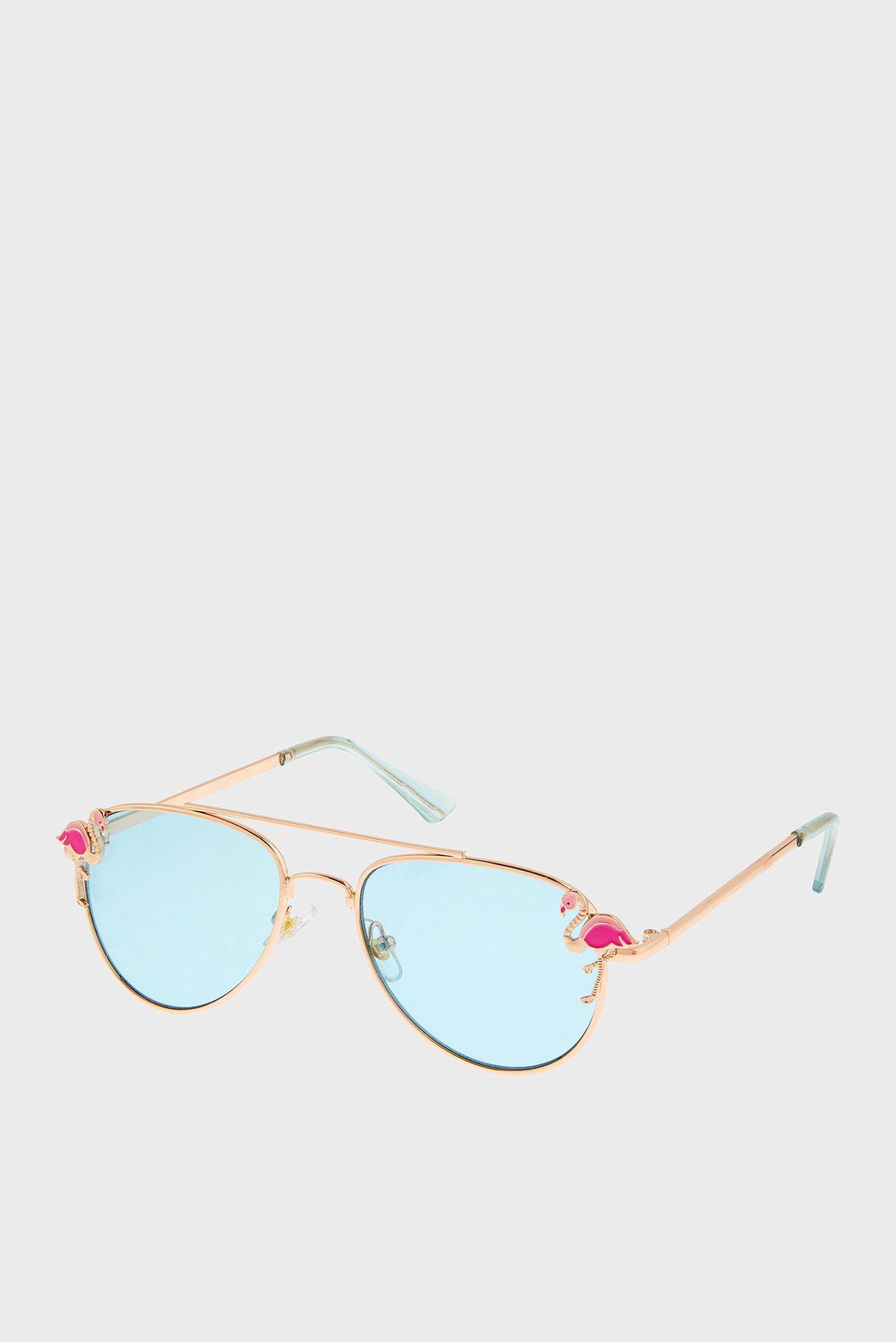 Дитячі золотисті окуляри FLAMINGO AVIATOR 1