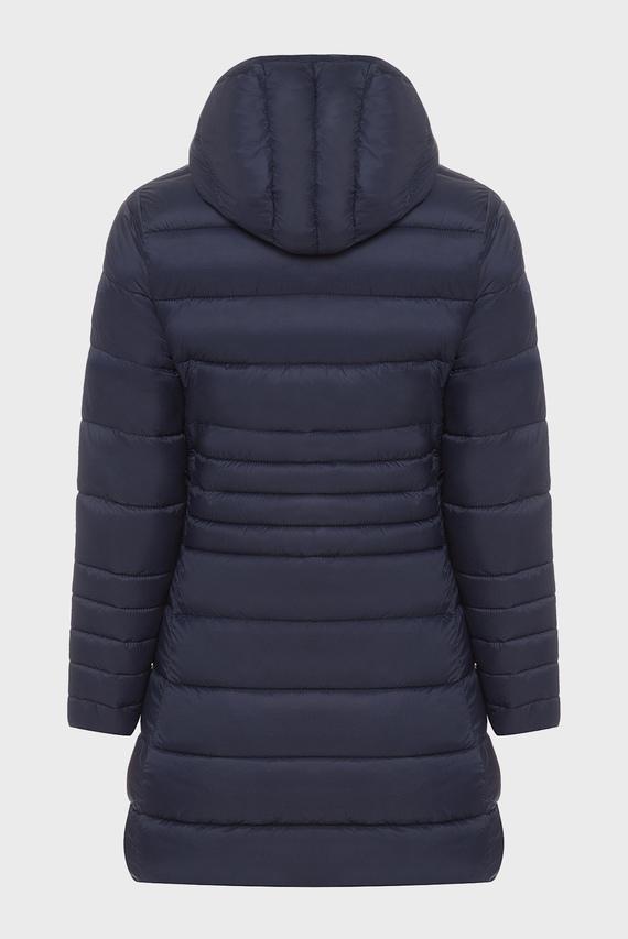 Детская темно-синяя удлиненная куртка