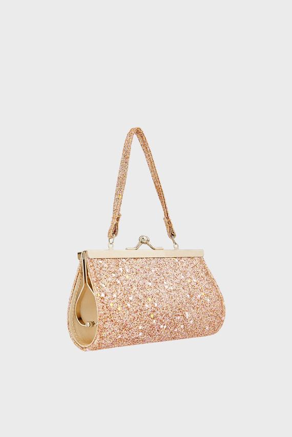 Детская золотая сумка Goldie Glitter Mi