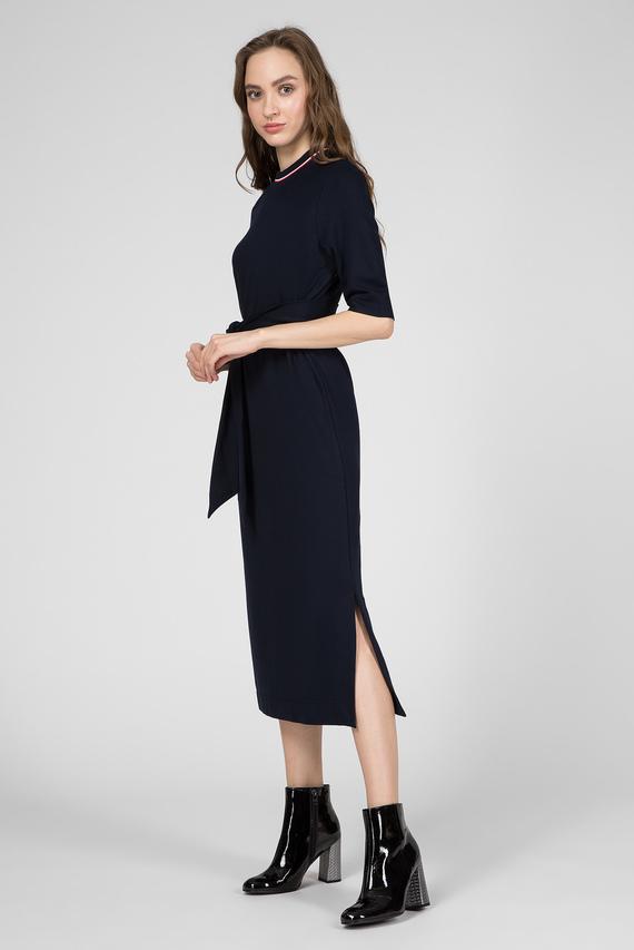 Женское темно-синее платье PIPER HIGH-NK