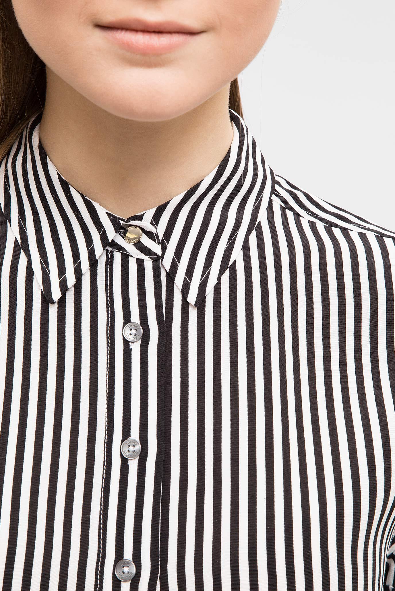 Купить Женская белая рубашка в полоку Tommy Hilfiger Tommy Hilfiger WW0WW21510 – Киев, Украина. Цены в интернет магазине MD Fashion