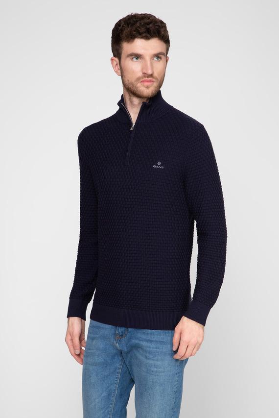 Мужской темно-синий свитер SIGNATURE WEAVE