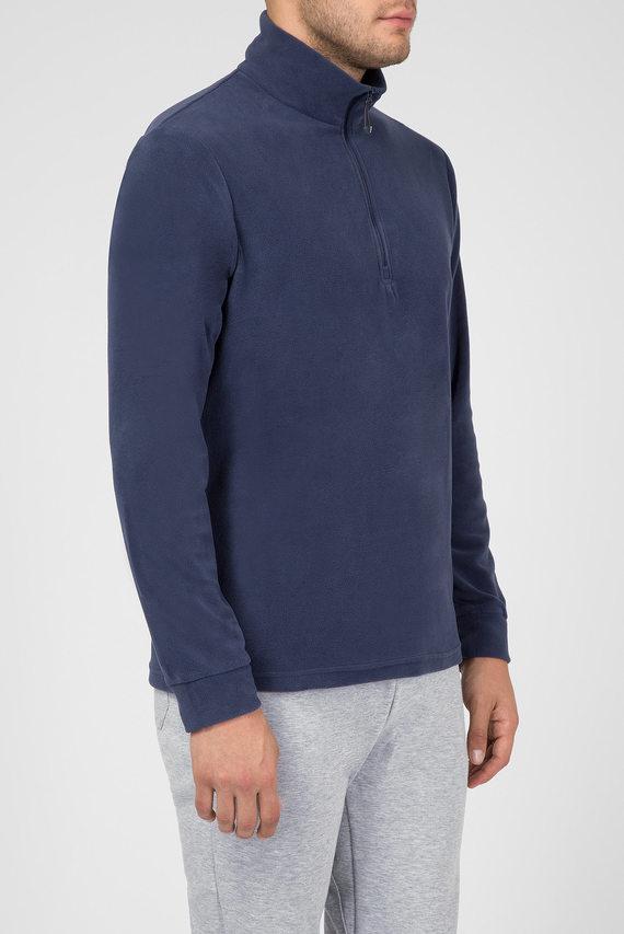 Мужской синий флисовый реглан