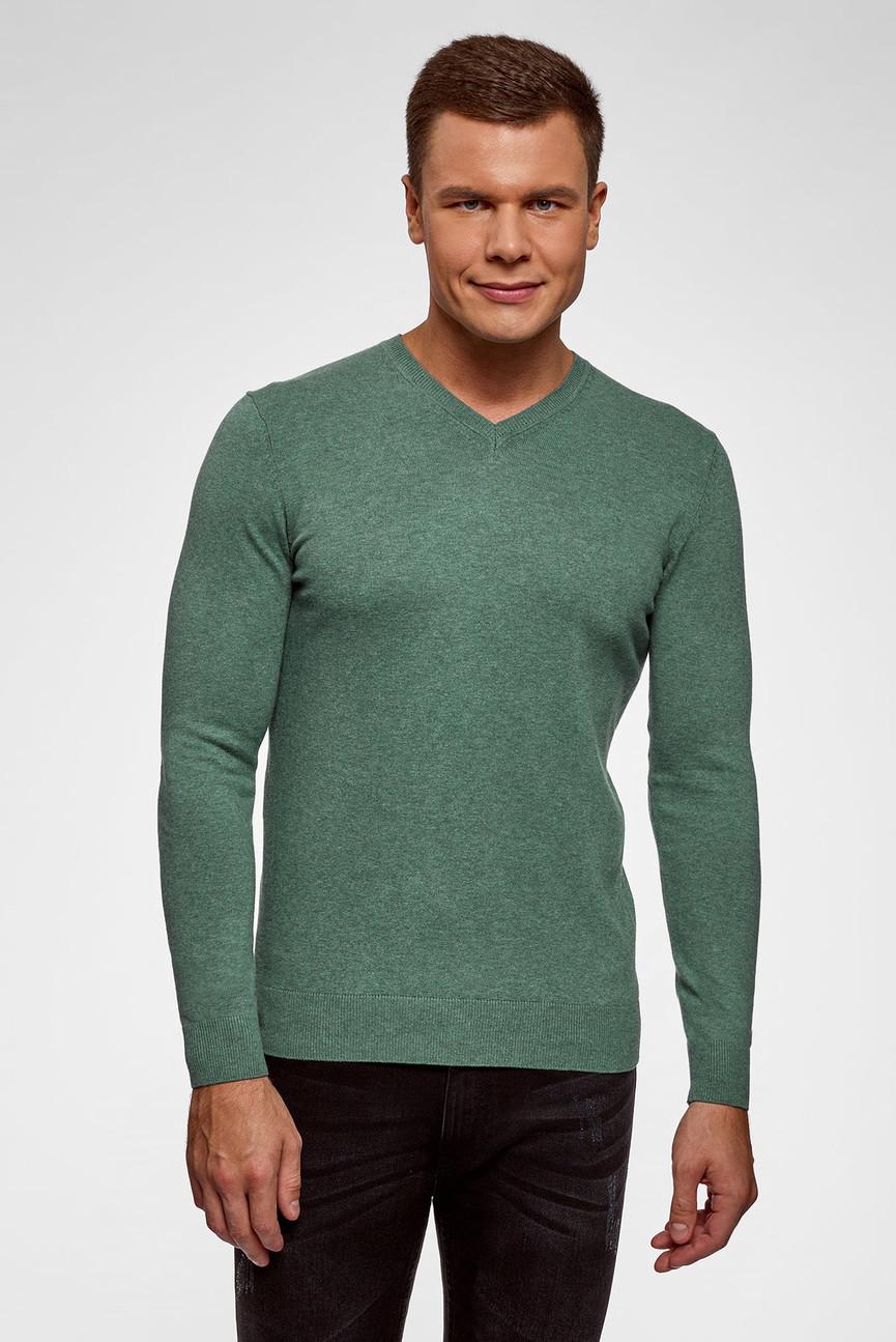 Мужской зеленый пуловер