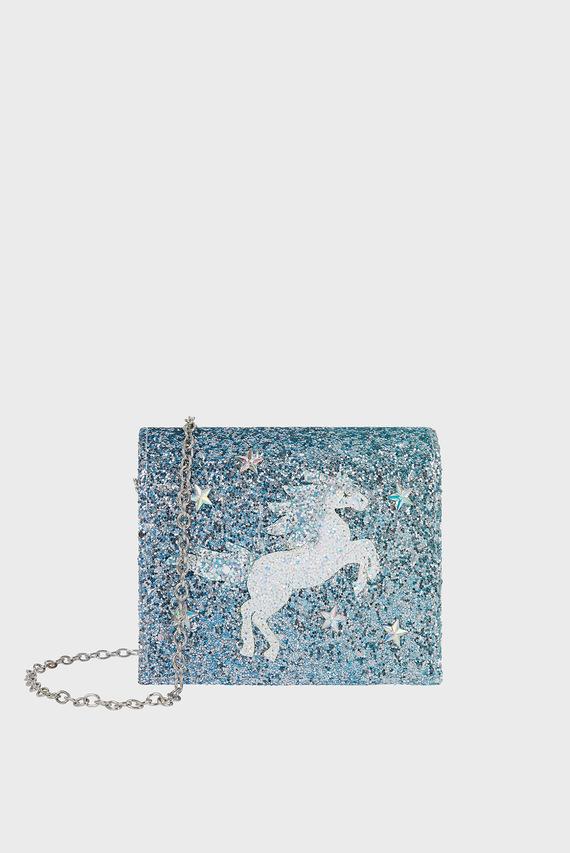 Детский голубой клатч Waterhorse Ombre Bag
