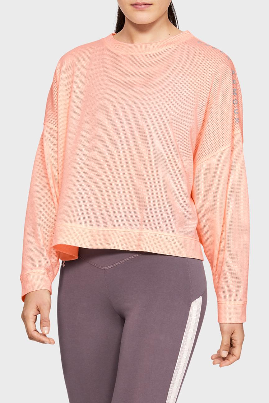 Женский розовый свитшот MESH AROUND OS CREW