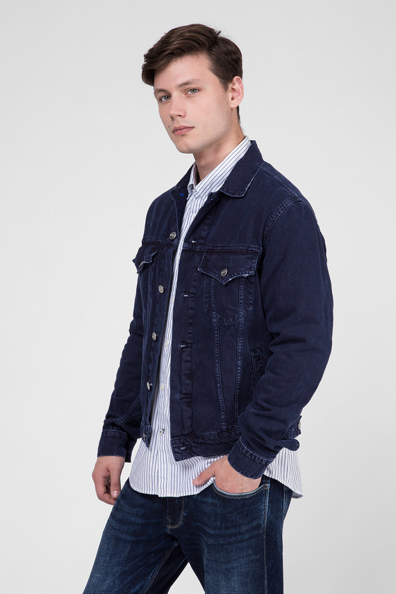 Мужская темно-синяя джинсовая куртка PINNER