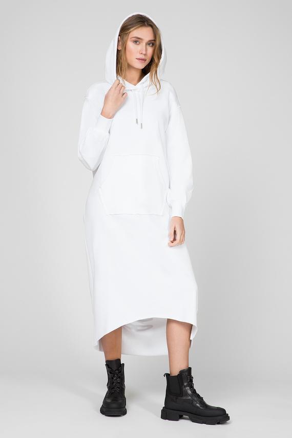 Женское белое платье-худи D-ILSE-TWIST-COPY