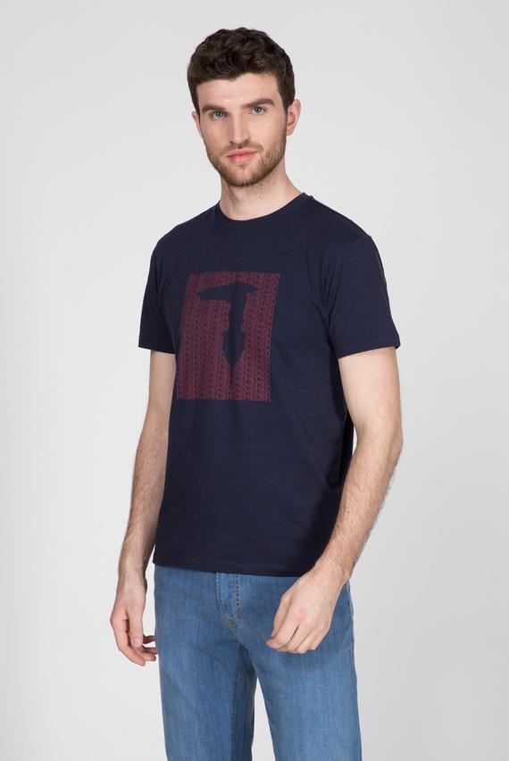 Мужская темно-синяя футболка REGULAR FIT