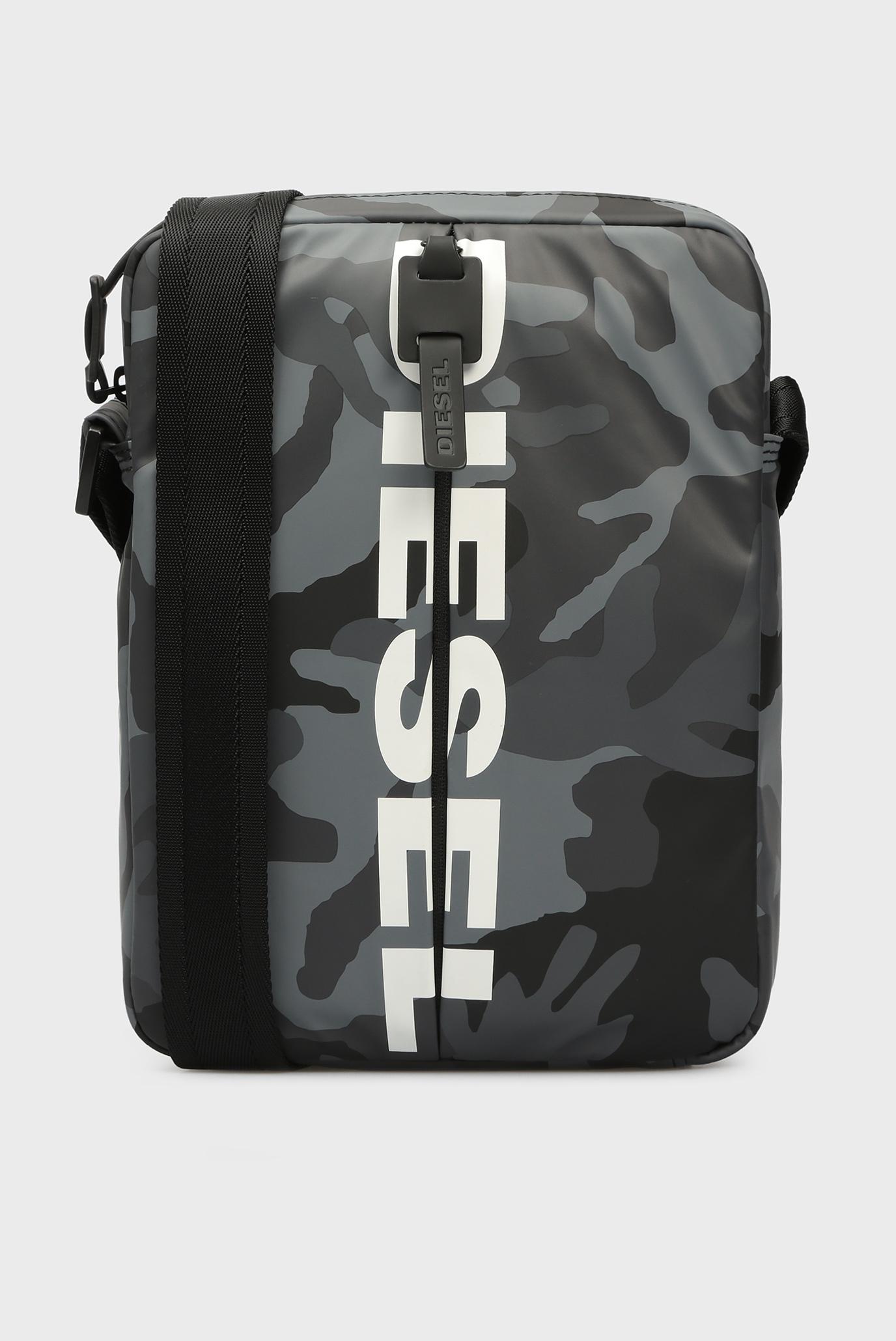 97fd3bc04507 Купить Мужская серая сумка через плечо BOLDMESSAGE Diesel Diesel ...