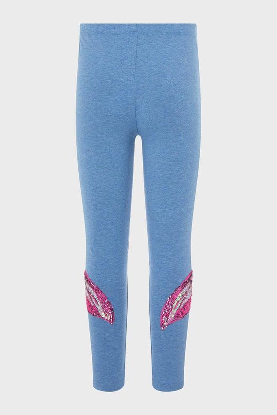 Детские голубые леггинсы Fearne Flamingo