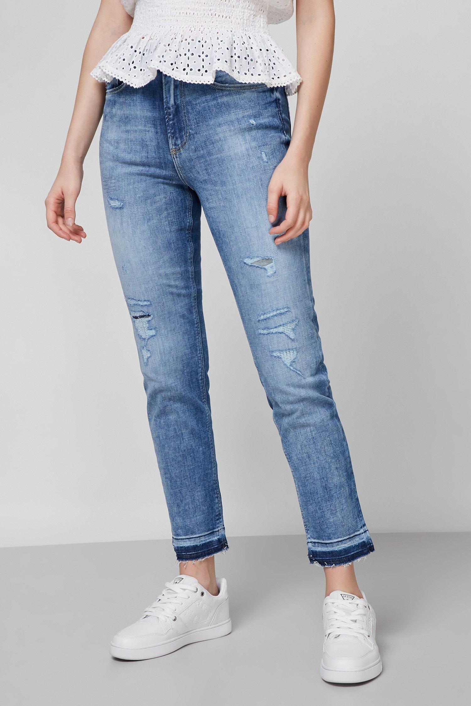 Женские синие джинсы Girly Skinny Straight High 1