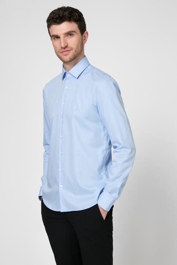 Мужская голубая рубашка EASY IRON