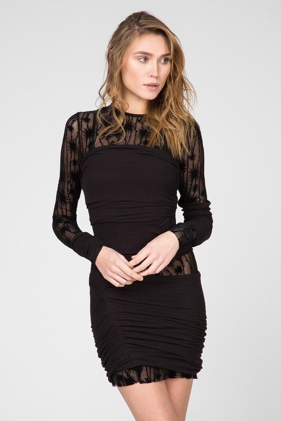 Женское черное платье D-LARY