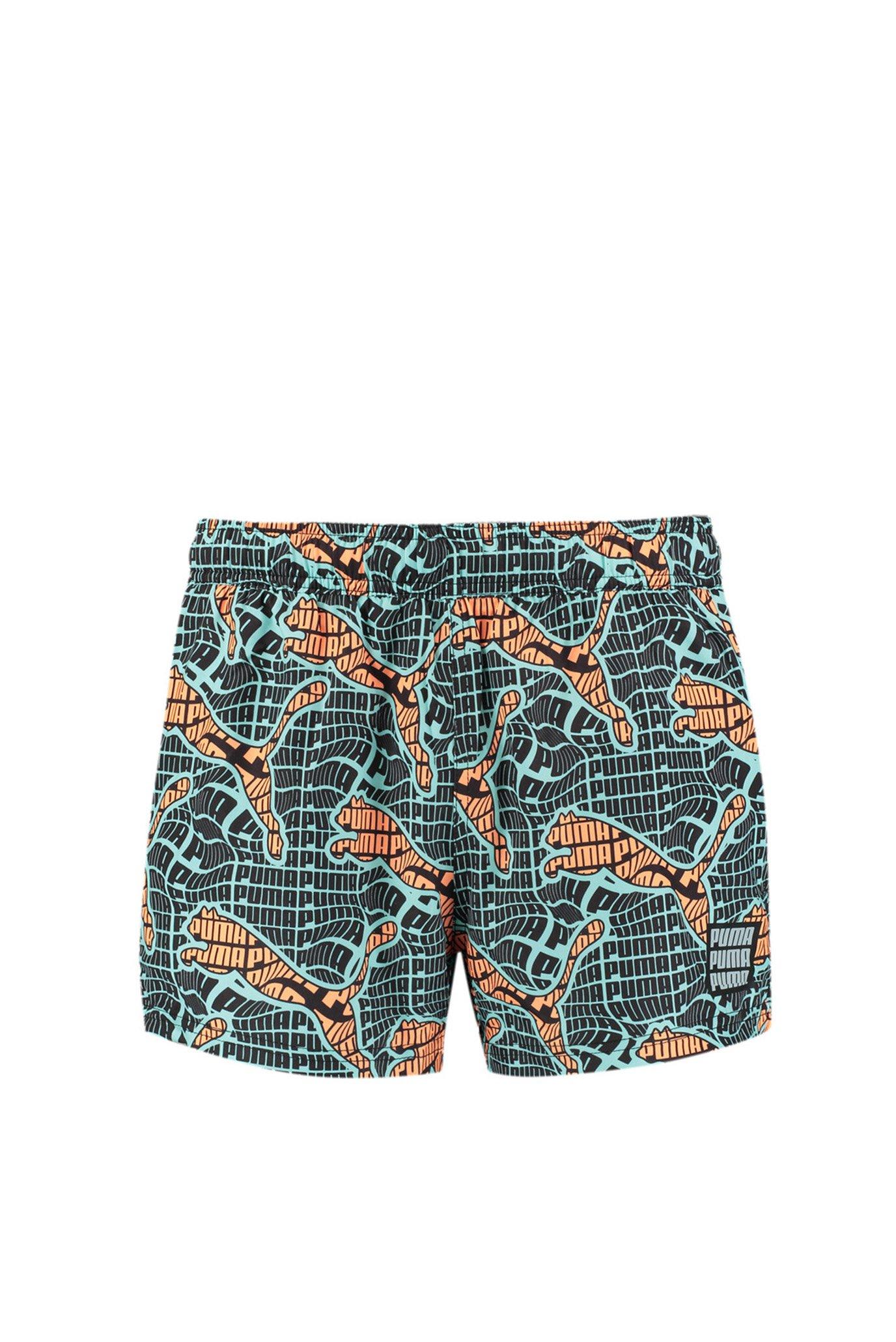 Шорты для плавания Swim Men's Cat Logo All-Over-Print Short Shorts 1
