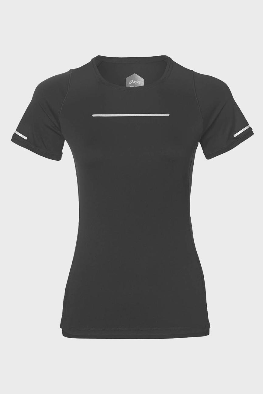 Женская черная футболка LITE-SHOW SS TOP