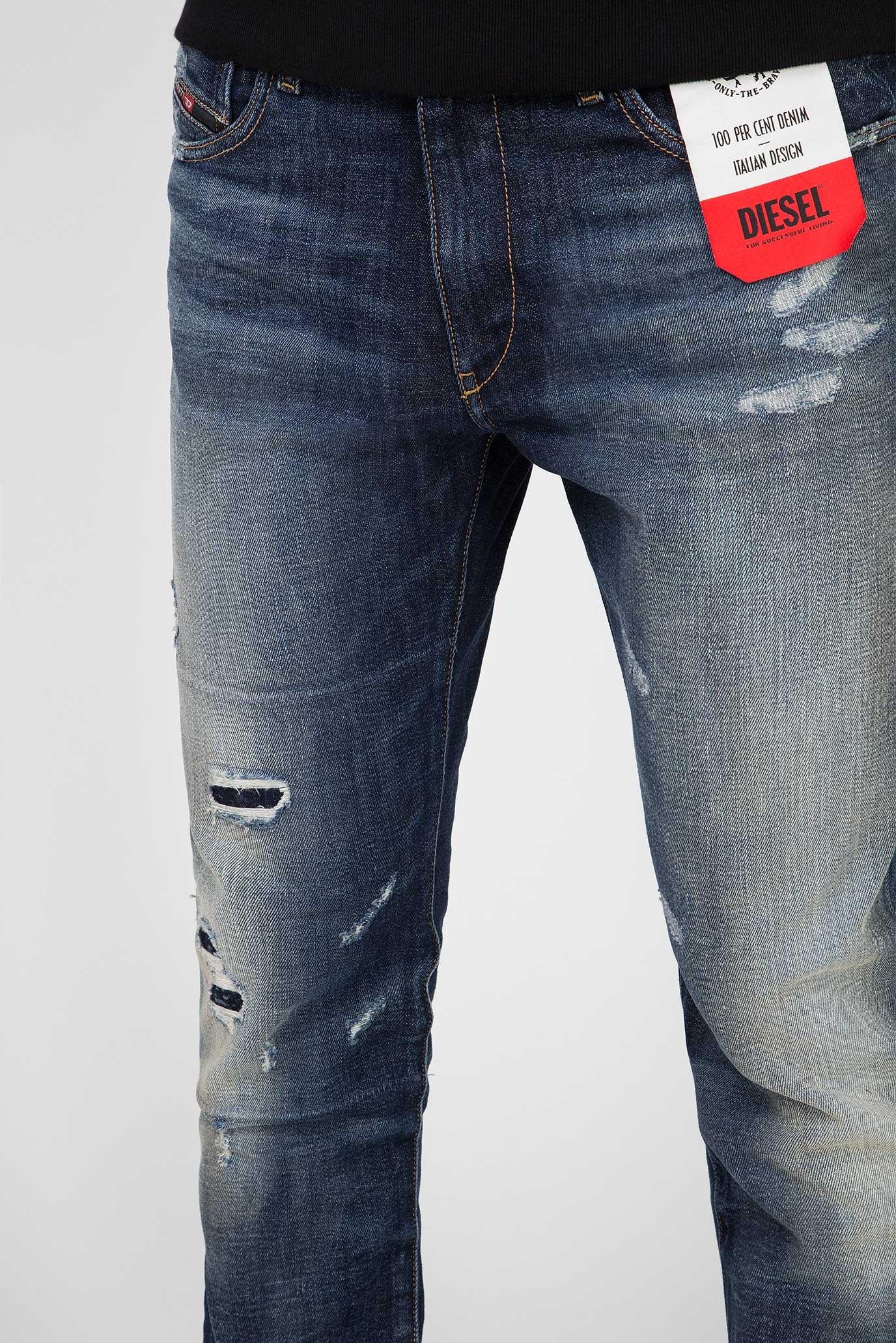 Мужские темно-синие джинсы D-STRUKT Diesel