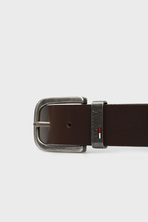 Мужской коричневый кожаный ремень TJM METAL LOOP