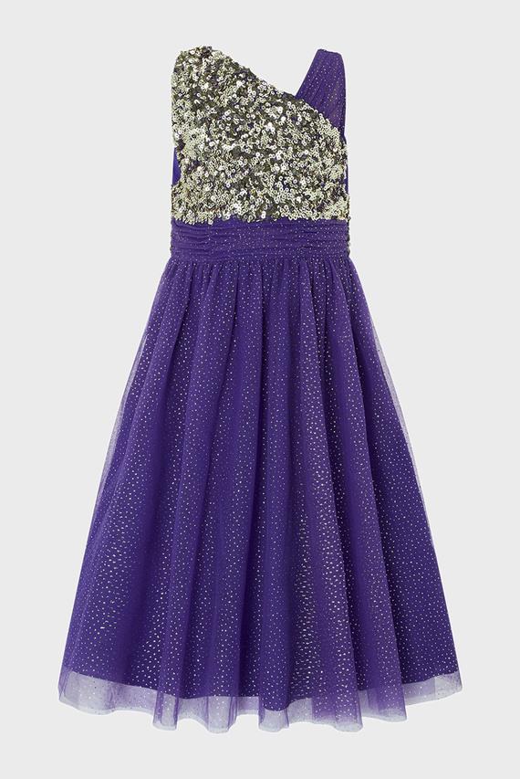 Детское фиолетовое платье NADIA 1 SHOULDER