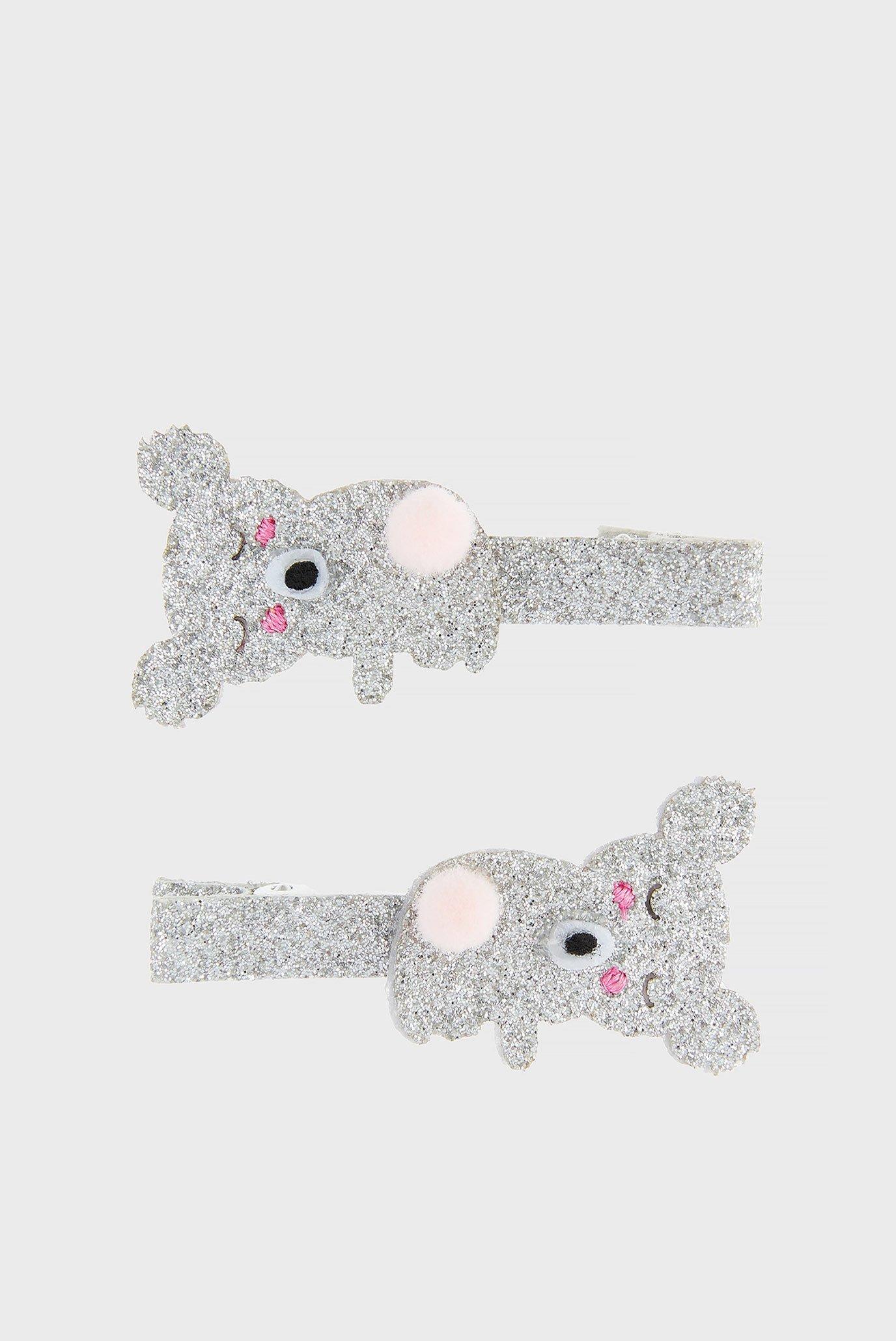 Купить Детские серебристые заколки KOALA SALON CLIP (2 шт) Accessorize Accessorize 683199 – Киев, Украина. Цены в интернет магазине MD Fashion