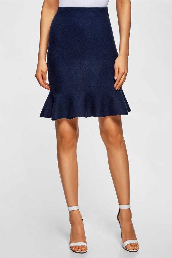 Женская синяя юбка