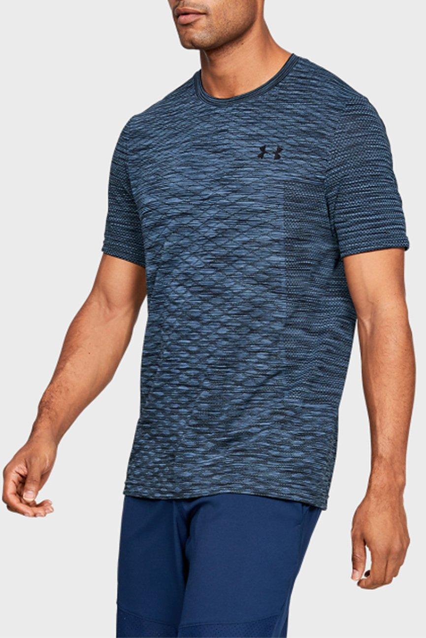 Мужская синяя футболка Vanish Seamless SS Novelty